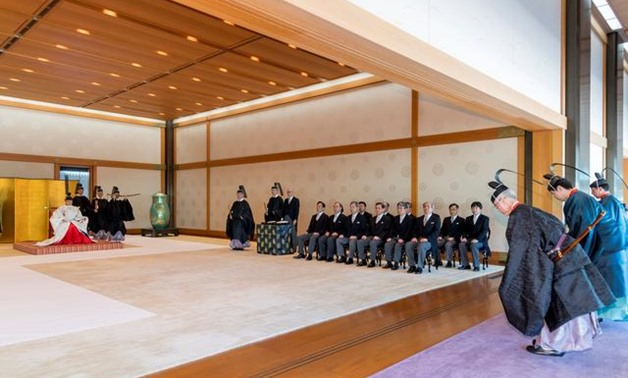 Donning Elaborate Robes Japan S New Imperial Couple Hold Shinto Rite Akhbrna Today S News