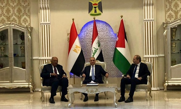 Pics: Egypt, Iraq, Jordan FMs call for cooperation to counter