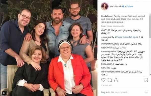 كندة علوش تطل في أول ظهور لها بعد الإنجاب خلال صورة عائلية