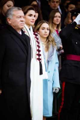 Queen Rania of Jordan visits Sandhurst as her daughter Princess Salma graduates