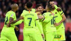 فيديو : برشلونة يتغلب على جيرونا بهدفي سيميدو وميسي ويواصل الصدارة