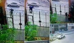 شاهدوا بالفيديو - لص يتسلق منزل مواطن بمكة في وضح النهار.. والرعب الخوف ينتاب العائلة