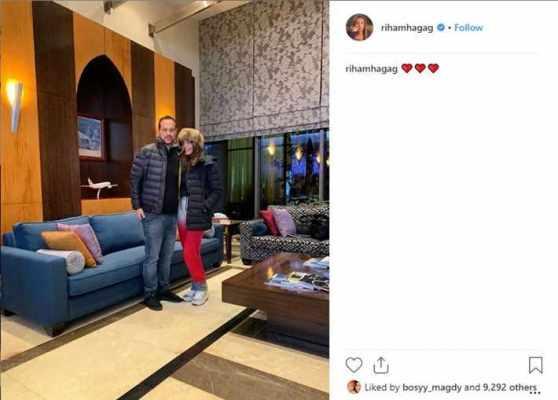 ريهام حجاج تلغي خاصية التعليقات على صورتها مع زوجها منعا للانتقادات - لماذا؟