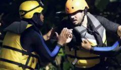 """إصابة مصطفى حجاج بسبب هروبه من الغوريلا  بـ """"رامز في الشلال"""" - شاهد بالفيديو"""