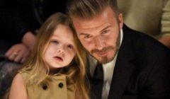 ديفيد بيكهام يثير الجدل بتقبيله ابنته على شفتيها !!