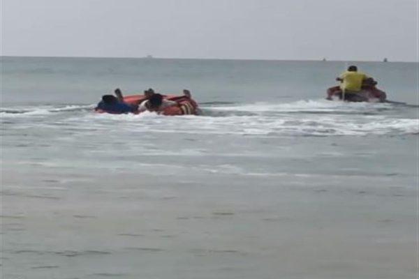 شاهد بالفيديو - ويزو وزوجها يتعرضان لموقف سيئ في عرض البحر