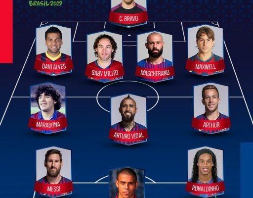 صورة : التشكيلة الأفضل للاعبي برشلونة من أميركا الجنوبية ..!