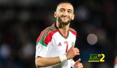 فيديو – الكاميرات ترصد رد فعل غاضب من زياش بعد تبديله في مباراة كوت ديفوار