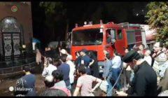 """بالصور.. رجال الحماية المدنية يخمدون حريق """"كنيسة الأنبا بولا"""""""