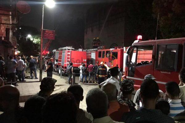 بالفيديو ... السيطرة على حريق كنيسة الأنبا بولا في حدائق القبة