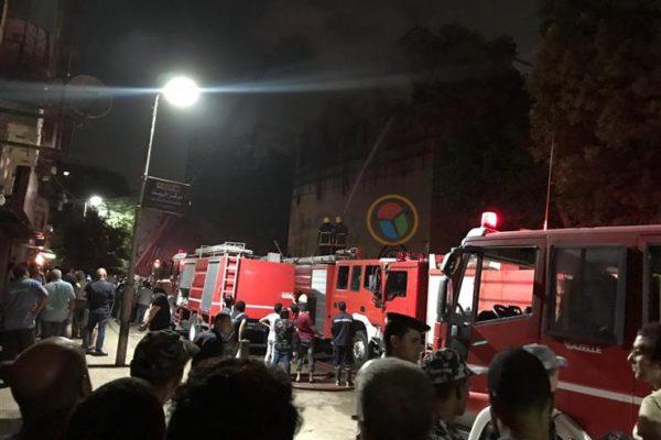 """اللقطات الأولى لحريق كنيسة """"الأنبا بولا"""" بمنشية الصدر"""