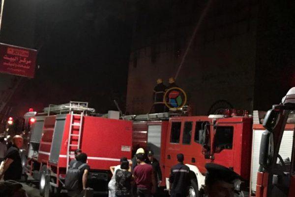 الصحة تدفع بـ 5 سيارات إسعاف لموقع حريق كنيسة الأنبا بولا