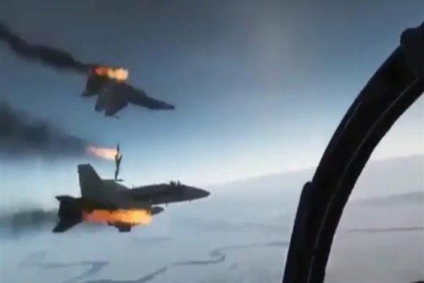تصادم طائرتين عسكريتين بقطر