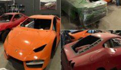 """ضبط مصنع ينتج سيارات """"فيراري ولامبورجيني"""" مقلدة ويبيعها بأسعار خيالية.. فيديو"""