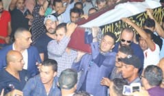 شاهد الصور الأولى من جنازة الفنان فاروق الفيشاوي