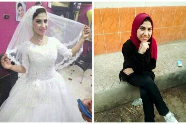 """مفاجأة.. ننشر الفيديو الأخير لعروسة المنوفية """"منار"""" قبل مقتلها على يد زوجها في الصباحية وتلطيخ فستان الزفاف بالدماء"""