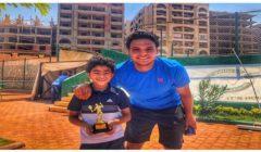 """""""موهبة تنس مصرية"""".. قصة عبد اللطيف صاحب الـ 8 سنوات الذي أشاد الاتحاد الدولي للعبة به"""
