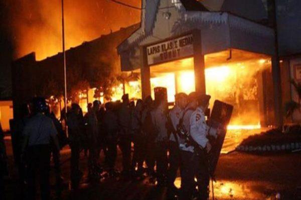 هروب 250 سجينًا في أعمال شغب بإندونسيا