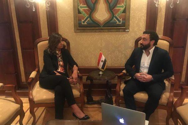 وزيرة الهجرة تلتقي رئيس اتحاد الدارسين المصريين في أمريكا الشمالية