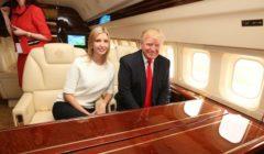 ذهب عيار 24 قيراط على طائرة ترامب.. رحلة فاخرة على متن طائرة دونالد ترامب الخاصة بالصور
