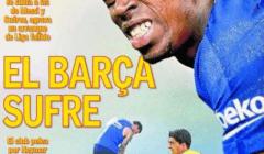 الآس : معاناة برشلونة