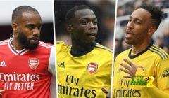 أوباميانج يتحدى ليفربول بثلاثي فريقه