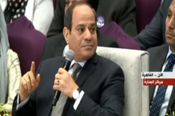 """السيسي للمصريين: """"ابنكم إن شاء الله شريف وأمين ومخلص"""""""