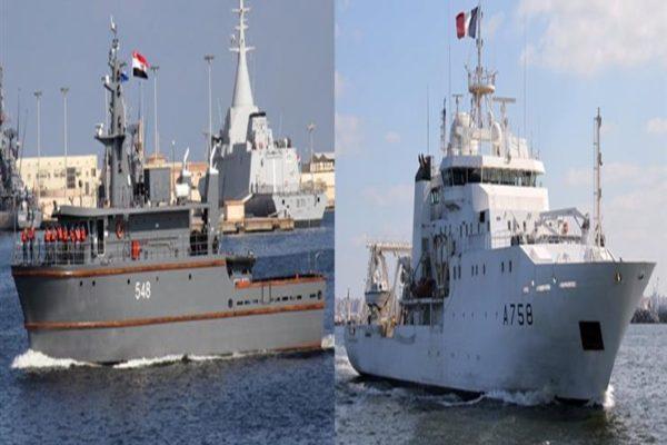 """المتحدث العسكري: تدريب بحري """"مصري - فرنسي"""" في مياه المتوسط"""
