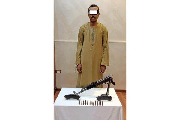أمن القاهرة: ضبط خفير بحوزته بندقية آلي في 15 مايو