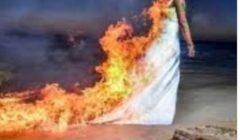 شاب ينتقم من خطيبته السابقة بإشعال النيران بها أثناء حفل زفافها
