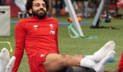 صلاح يشارك في تدريب ليفربول رغم الإصابة
