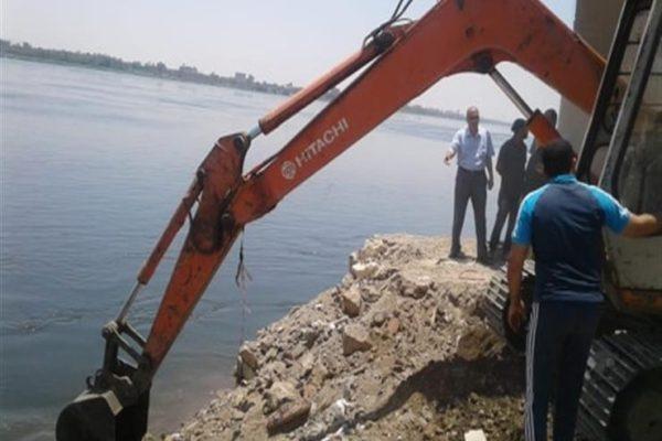 الري: إزالة 17 حالة تعدٍ على نهر النيل في ثلاث محافظات اليوم