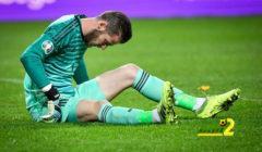 ذعر بين جماهير مانشستر يونايتد بعد إصابة دي خيا مع المنتخب الإسباني