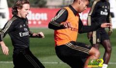 فيديو: كورتوا يتألق ويبدع خلال تدريبات ريال مدريد