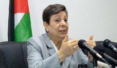 عشراوي تطلع رئيسة مؤسسة السلام في الشرق الأوسط على التطورات السياسية