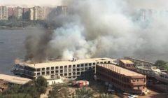 النار تلتهم مركبا بنهر النيل في الحوامدية