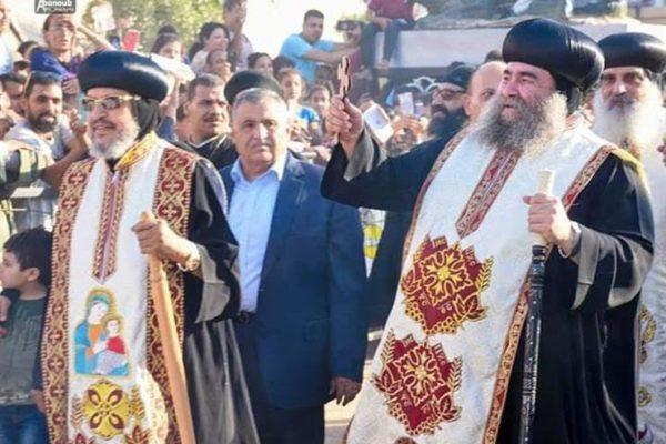 بالصور.. دير الرزيقات يختتم احتفالات عيد مارجرجس بالقداس الإلهي