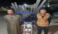 ضبط عصابة وراء سرقة حديد الخاص بأبراج الضغط العالي ببني سويف