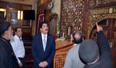 """وفد لجنة السياحة والآثار بـ""""النواب"""" يتفقد كنيسة السيدة العذراء بمسطرد"""