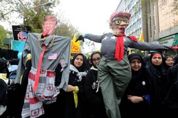 تظاهرات في إيران لإحياء ذكرى احتجاز موظفي السفارة الأمريكية