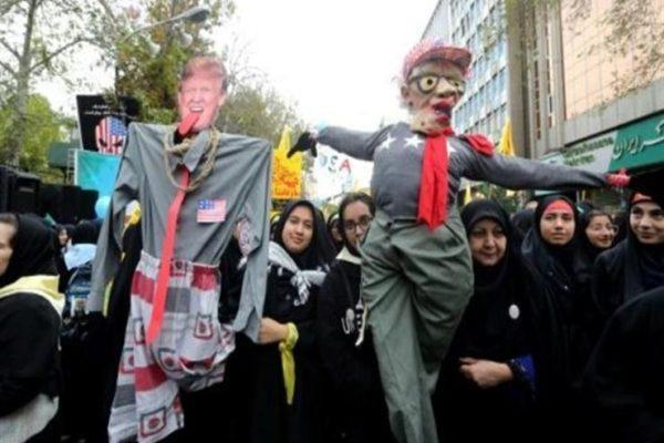 ايران تحيي ذكرى اقتحام السفارة الأمريكية عام 1979 بشعارات مناهضة لواشنطن