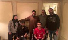 آل الشيخ يستقبل مؤمن زكريا ومشجع الأهلي المصاب