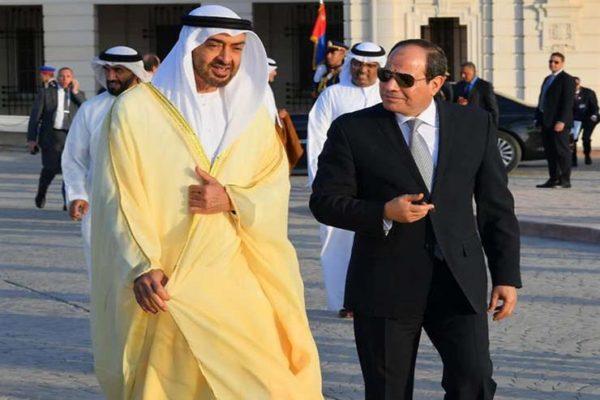 """""""مكافحة الإرهاب في ليبيا"""".. تفاصيل البيان الختامي لمباحثات السيسي وبن زايد"""