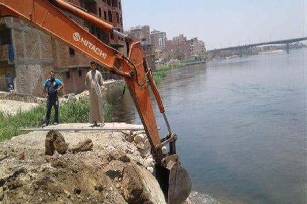 """""""الري"""": إزالة 27 حالة تعد على نهر النيل بـ 3 محافظات اليوم"""