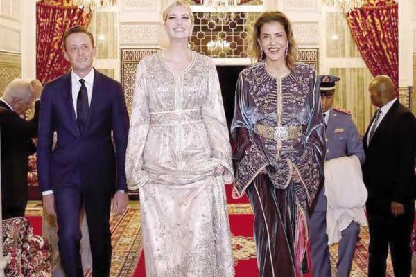 إيفانكا ترامب بـ«القفطان» فى زيارتها للمغرب