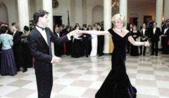 رقصت به مع «ترافولتا».. عرض فستان لـ«أميرة القلوب» للبيع بـ350 ألف إسترليني