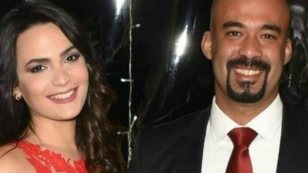 """أنجي خطيبة هيثم أحمد زكي تنعيه :""""ربنا يرحمك ياحبيبي""""..وتغلق حساباتها كلها"""