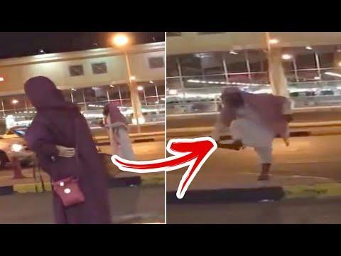 سعودي يرمي فتاة بالحذاء ويسبّها بسبب كشف وجهها: «يا زانية» (فيديو)