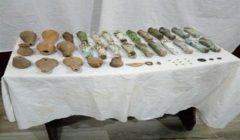 تنفيذا لقرار النيابة.. استخراج 74 قطعة أثرية بميت رهينة