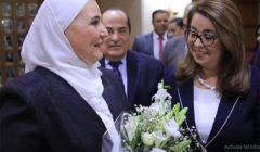 """غادة والي تودع العاملين في """"التضامن الاجتماعي"""" وتستقبل الوزيرة الجديدة (فيديو)"""